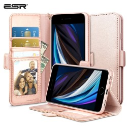 ESR iPhone SE 2020/8/7 Flip Wallet Case, Rose Gold