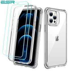 Carcasa ESR Alliance iPhone 12 Pro Max, Clear frame + 2 folii sticla securizata