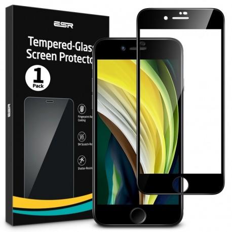 """ESR iPhone SE 2020/8/7 Tempered Glass Full 3D Coverage Screen Protector - Black Edge """