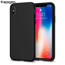 Spigen iPhone X Case Liquid Crystal, Matte Black