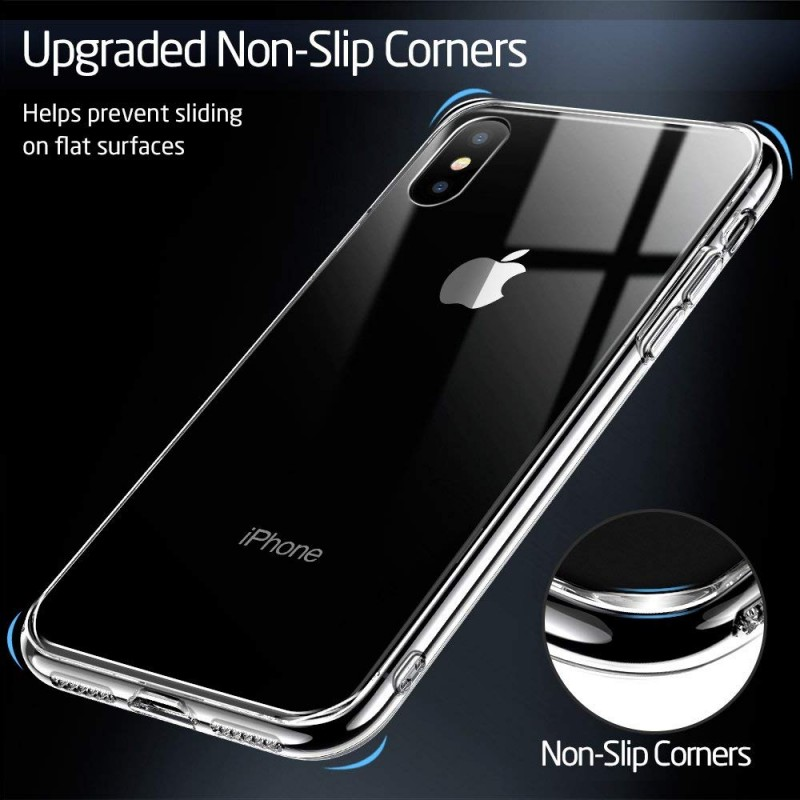 best service 1cd59 cd612 ESR Mimic 9H Tempered Glass case for iPhone X, Clear